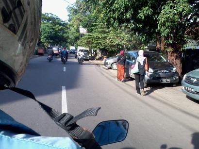 First time naik ojek di Jakarta, hehe