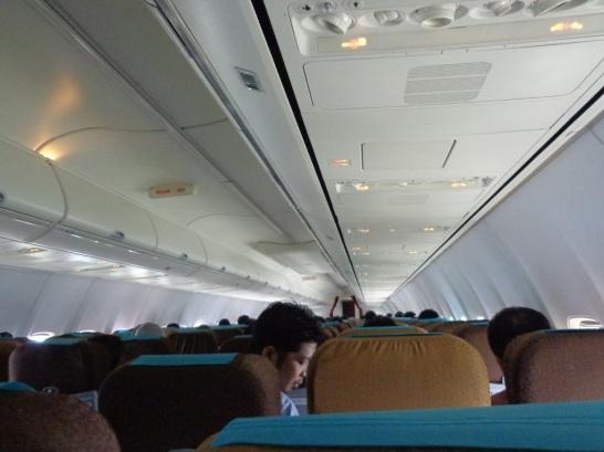 Di atas pesawat menuju Jakarta