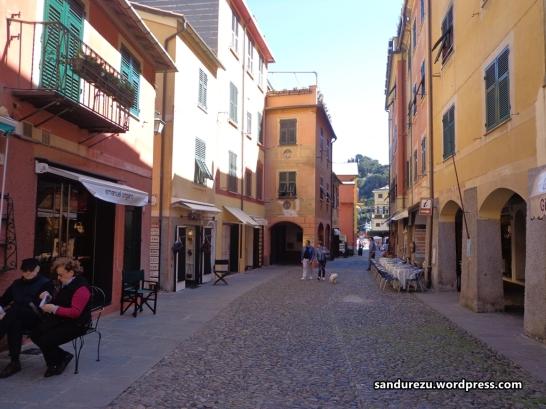 Jalanan di desa Portofino
