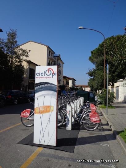 Sepeda sewaan di Pisa