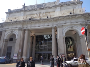 Genova Piazza Principe Railway Station, tempat pertama kali aku menginjakkan kaki di Kota Genova saat tiba dari Indonesia