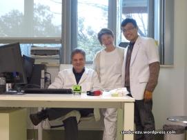 Bersama prof.Martucciello dan Perawat di ruang poliklinik bedah anak