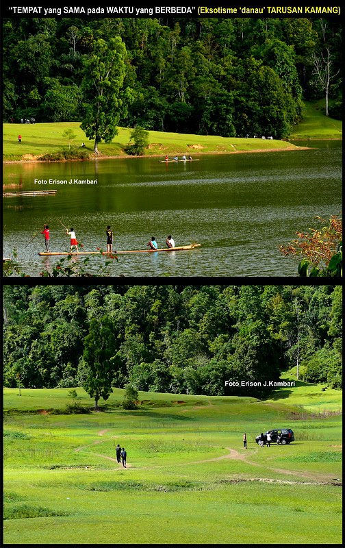 Fenomena unik ketika Danau Tarusan Kamang berisi dan menghilang ditelan bumi (image: Erison J Kambari)