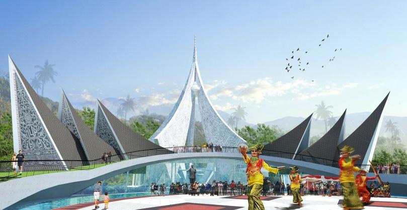 Desain monumen nasional PDRI di Koto Tinggi