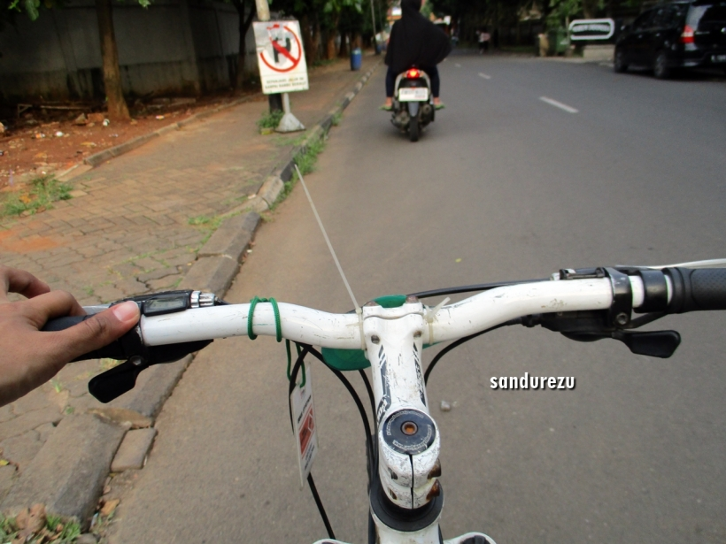 Keliling TMII naik sepeda, irit waktu, duit dan tenaga