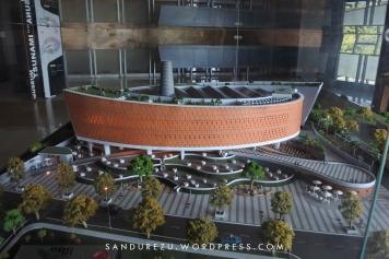 Maket Gedung Museum Tsunami Aceh